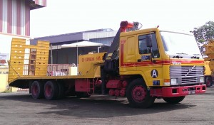 Lorry Crane with Ramp